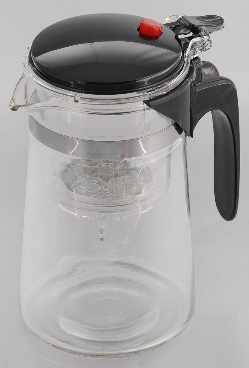 Чайник заварочный Mayer & Boch, с фильтром и клапаном, 750 мл115510Чайник заварочный Mayer & Boch изготовлен из высококачественного термостойкого стекла и пластика. Заварочный чайник удобен в использовании, любой человек, даже не имеющий большого опыта в заваривании чая, сможет заварить в нем чай до правильной консистенции без риска перезаварить чай. При нажатии на кнопку заваренный настой из фильтра переливается в нижнюю часть чайника, процесс заварки останавливается, а чаинки остаются в фильтре.Диаметр чайника (по верхнему краю): 7 см.Высота чайника: 16,5 см.