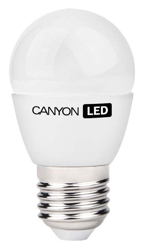 Лампа светодиодная Canyon, цоколь E27, 3,3W, 2700КC0044702Лампочка шаровидной формы Canyon имеет компактные габариты. Она излучает яркий свет и обеспечивает значительную экономию энергии, что минимизирует затраты на обслуживание.