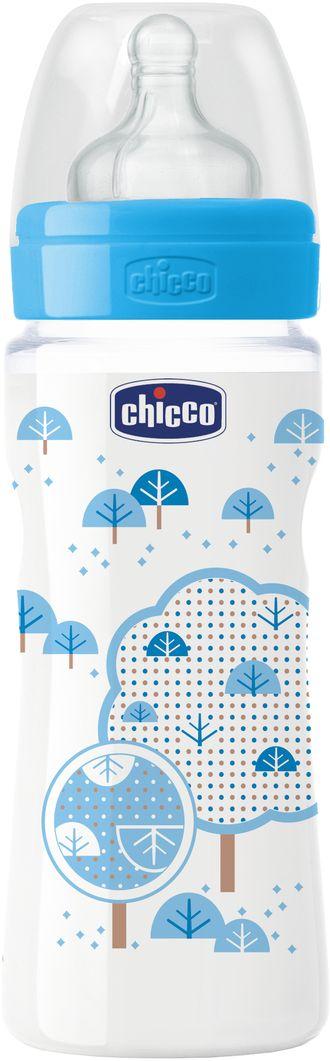Chicco Бутылочка для кормления Well-Being Boy от 4 месяцев 330 мл