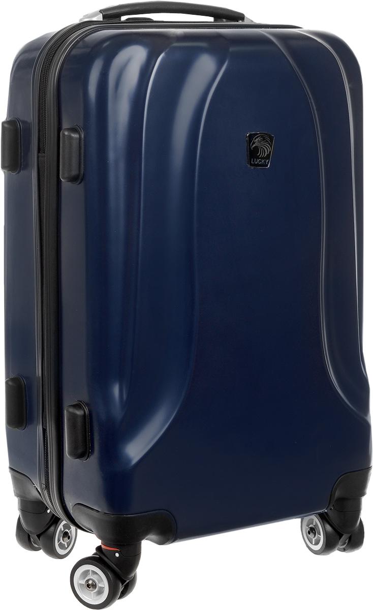 Чемодан Lucky Club, цвет: темно-синий, 38 л. SK802 46CMГризлиЧемодан Lucky Club, выполненный из прочного пластика, прекрасно подойдет для путешествий. Изделие имеет жесткую форму. Материал внутренней отделки - полиэстер серого цвета. Чемодан вместителен, он содержит продуманную внутреннюю организацию, которая позволяет удобно разложить вещи. Чемодан закрывается по периметру на застежку-молнию с двумя бегунками. Внутри содержится 2 отделения. Большое отделение для хранения одежды оснащено перекрещивающимися багажными ремнями, которые соединяются при помощи пластиковой застежки. Второе отделение - на молнии с двумя бегунками. Для удобной перевозки чемодан оснащен четырьмя колесами, которые обеспечивают легкость перемещения в любом направлении. Телескопическая металлическая ручка выдвигается нажатием на кнопку и фиксируется в 2-х положениях. Сверху и сбоку предусмотрены ручки для поднятия чемодана. Специальные пластиковые ножки на боковой стороне защищают от загрязнений. Небольшие размеры позволяют проносить чемодан в салон самолета в качестве ручной клади. Чемодан оснащен кодовым замком с функцией TSA, который исключает возможность взлома. Чемодан Lucky Club идеально подходит для поездок и путешествий. Он вместит все необходимые вещи и станет незаменимым аксессуаром во время поездок. Размер корпуса чемодана (ДхШхВ): 36 x 20 х 46 см. Высота чемодана (с учетом колес и максимально выдвинутой ручки): 105 см. Максимальная высота выдвижной ручки: 54 см. Минимальная высота выдвижной ручки: 31 см. Диаметр колеса: 4,5 см.