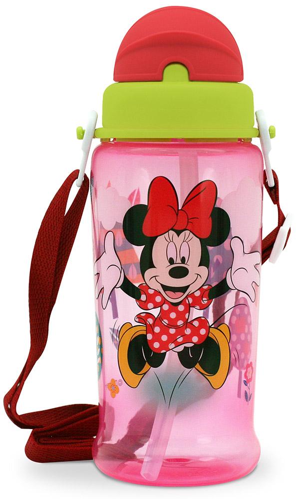 Lubby Поильник-непроливайка Микки и Минни с трубочкой от 6 месяцев цвет розовый салатовый 360 мл