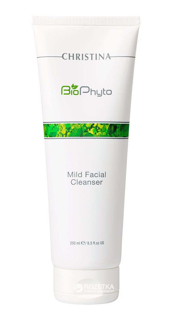 Christina Мягкий очищающий гель Bio Phyto Mild Facial Cleanser 250 мл106185Мягкий, не сушащий кожу гель деликатно очищает кожу от излишков сала, остатков макияжа и загрязнений. Устраняет симптомы дискомфорта, оставляет кожу чистой и спокойной.Активные компоненты: Экстракт зеленого чая, огурца, инновационные моющие ингредиенты. Результат: Очищает кожу лица, шеи и зоны декольте.