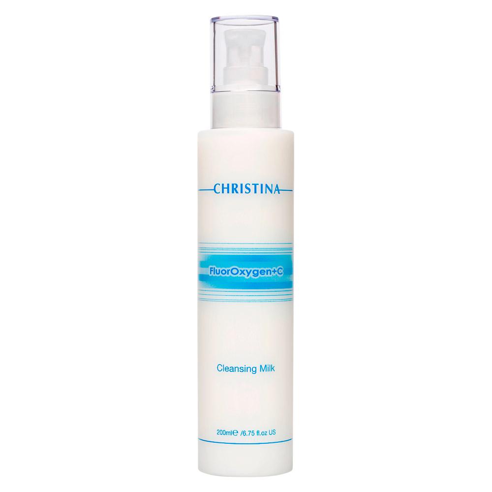 Christina Очищающее молочко FluorOxygen +C Cleansing Milk 200 млFS-00897Очищающее молочко Christina FluorOxygen+C- Cleansing Milk очищает гиперпигментированную кожу, удаляя макияж и загрязнения. Ваша кожа становится свежей, сияющей, с ровным тоном.