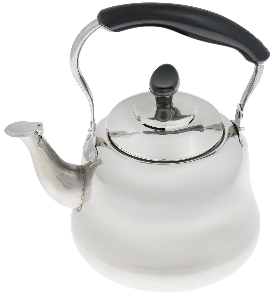 Чайник Mayer & Boch, со свистком и фильтром, 1,5 л. 2351294672Чайник Mayer & Boch изготовлен из высококачественнойнержавеющей стали. Он оснащен подвижной ручкой из стали сбакелитовой накладкой, что делает использование чайника оченьудобным и безопасным. Крышка снабжена свистком, позволяяконтролировать процесс подогрева или кипячения воды.Также имеется фильтр из нержавеющей стали. Эстетичный и функциональный чайникбудет оригинально смотреться в любом интерьере. Подходит для электрических, газовых и стеклокерамических плит. Можно мыть впосудомоечной машине.Высота чайника (без учета ручки и крышки): 11 см.Высота чайника (с учетом ручки и крышки): 21 см.Диаметр чайника (по верхнему краю): 9 см.