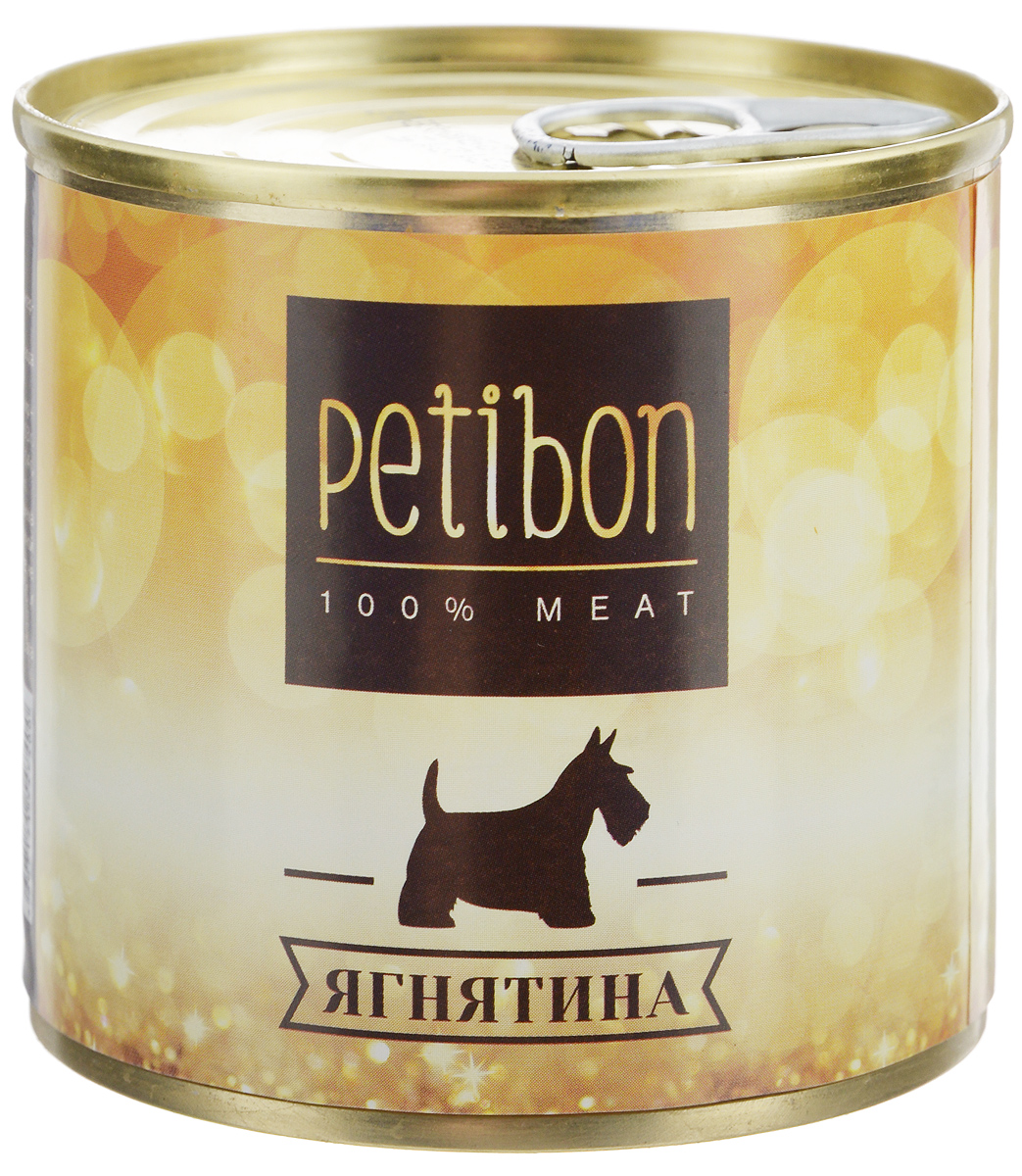 Консервы для собак Petibon, с ягненком, 240 г40283Petibon - влажный мясной корм для собак. Использование монобелкового комплексного сырья значительно расширяет аминокислотный состав продукта. Использование корма рекомендовано для собак, нуждающихся в диете или определённом виде мяса.Товар сертифицирован.