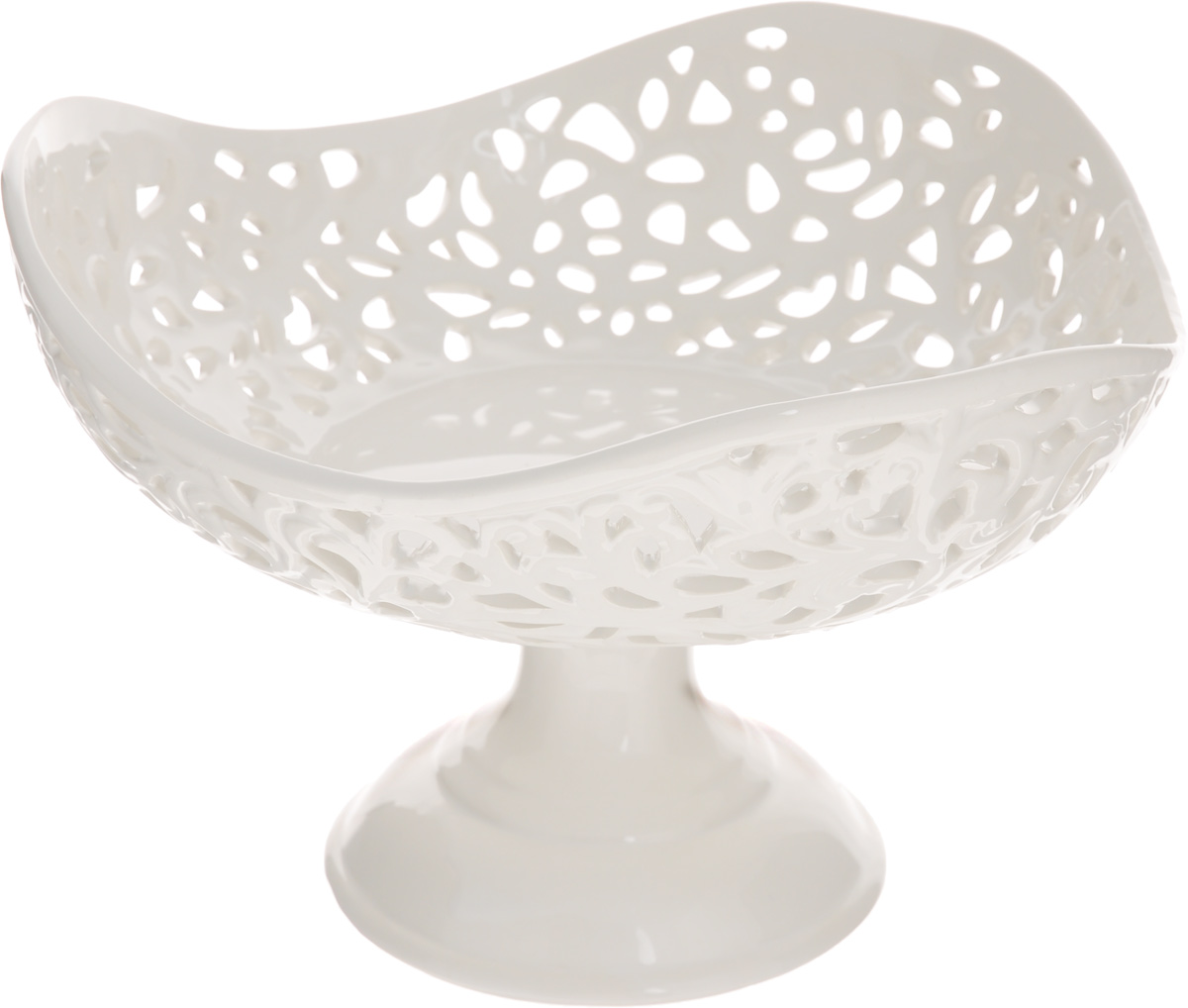 Конфетница Mayer & Boch Ажур, 23 х 23 х 15,5 см115010Конфетница Mayer & Boch Ажур, изготовленная из высококачественного доломита, украшена оригинальным ажурным узором. Стильная форма и интересное исполнение идеально впишутся в любой стиль, а универсальный белый цвет подойдет к любой мебели.Такая конфетница принесет новизну в вашу кухню и приятно порадует глаз.