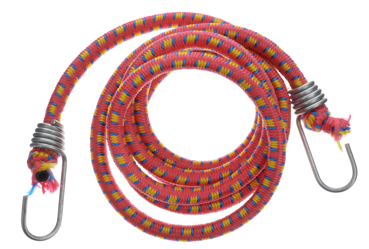 Резинка багажная МастерПроф, с крючками, цвет: красный, желтый, синий, 1 х 190 смВетерок 2ГФБагажная резинка МастерПроф, выполненная из синтетического каучука, оснащена специальными металлическими крюками, которые обеспечивают прочное крепление и не допускают смещения груза во время его перевозки. Изделие применяется для закрепления предметов к багажнику. Такая резинка позволит зафиксировать как небольшой груз, так и довольно габаритный.Температура использования: -15°C до +50°C.Безопасное удлинение: 60%.Толщина резинки: 1 см.Длина резинки: 190 см.