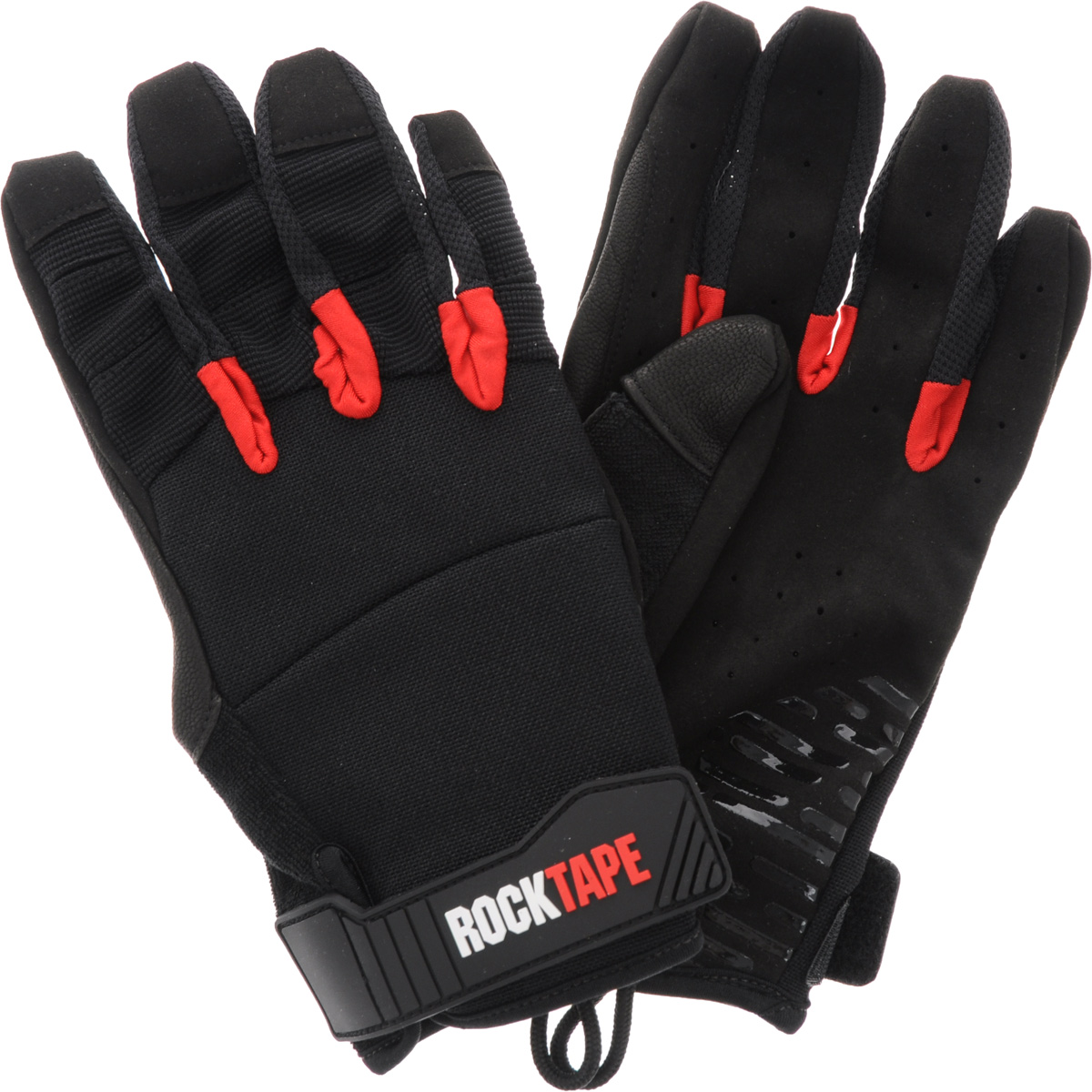 Перчатки Rocktape Talons, цвет: черный, красный. Размер MWRA523700Rocktape Talons - это функциональные перчатки для спорта. Руль велосипеда, турник, штанга - за что бы вы ни взялись, перчатки обеспечат максимальную защиту и поддержку! Уверенный хват и больше никаких стертых рук, волдырей и мозолей!Особенности перчаток:Дружелюбны к сенсорным экранам.Без швов на ладонях.Силиконовая накладка false-grip поможет в выходах силой.Защита большого пальца при захвате штанги.Впитывают пот.Дышащий материал по боковым поверхностям пальцев.Удобные петли.Рассчитаны на работу с мелом.Обхват ладони ниже костяшки: 20 см.