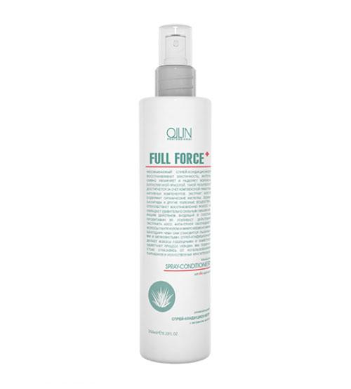 Ollin Увлажняющий спрей-кондиционер с экстрактом алоэ Full Force Anti-Dandruff Moisturizing Spray-Conditioner 250 млMP59.4DНесмываемый спрей-кондиционер восстанавливает эластичность волос, интенсивно увлажняет, наделяет их естественной красотой и делает послушными. Экстракт алоэ, усиленный провитамином B5, способствует восстановлению и интенсивному насыщению волос влагой, а фиталтриол насыщает волосы пантенолом и полезными микроэлементами, благодаря чему они становятся пышными и шелковистыми. Без искусственных красителей. Без парабенов.