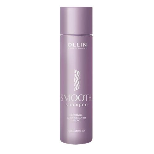 Ollin Шампунь для гладкости волос Smooth Hair Shampoo for Smooth Hair 300 мл72523WDШампунь прекрасно ухаживает за волосами и разглаживает их, сохраняя эластичность и упругость прямых и выпрямленных волос. Особая форма гидролизованного кукурузного крахмала Mirustyle MFP PE образует защитную микропленку на поверхности каждого волоса.