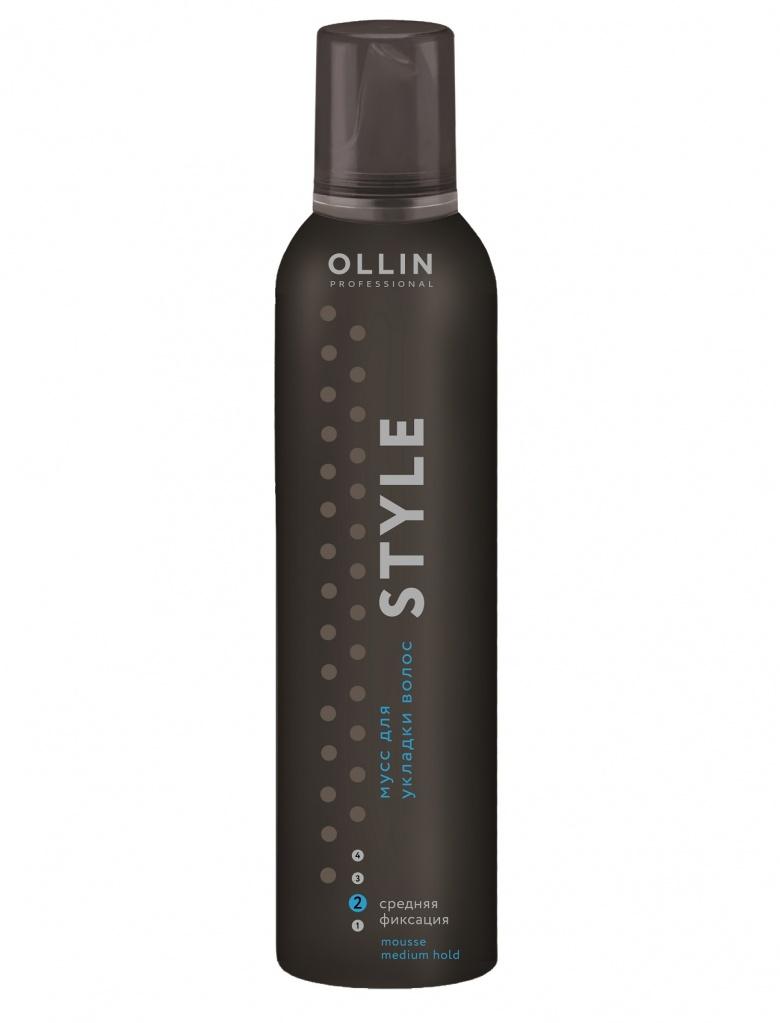 Ollin Мусс для укладки волос средней фиксации Style Mousse 250 млMP59.4DМусс для укладки волос средней фиксации Ollin Style Mousse Strong надежно фиксирует и придает дополнительный прикорневой объем. Не утяжеляет. Защита волос от агрессивных факторов окружающей среды, и от термического воздействия.