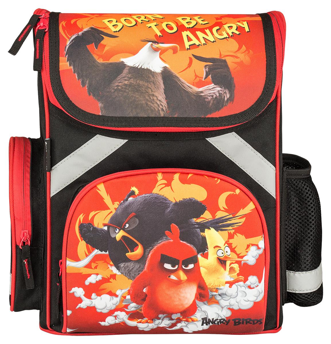 Kinderline Ранец школьный Angry Birds72523WDРанец школьный Kinderline Angry Birds выполнен из качественного полиэстера. Ранец оформлен яркими рисунками по мотивам мультсериала Angry Birds. Ранец имеет одно основное отделение, закрывающееся на застежку-молнию. Внутри отделения расположены два разделителя с утягивающей резинкой. На лицевой стороне ранца имеется накладной карман на молнии. По бокам ранца размещены два дополнительных накладных кармана, один на молнии и один открытый. Ортопедическая спинка, созданная по специальной технологии из дышащего материала, равномерно распределяет нагрузку на плечевые суставы и спину. Спинка и боковые панели усилены пластиком. Ранец оснащен текстильной петлей для подвешивания и двумя широкими лямками регулируемой длины. Лямки анатомической формы обтянуты воздухообменной сеткой.Многофункциональный школьный ранец станет незаменимым спутником вашего ребенка в походах за знаниями.