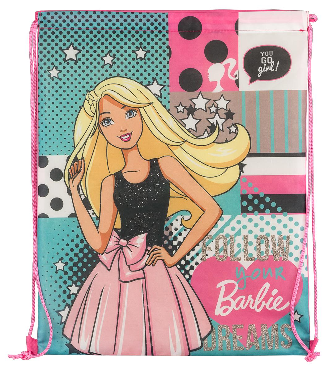 Barbie Сумка для сменной обуви Follow Your Dreams72523WDСумка для сменной обуви Barbie Follow Your Dreams идеально подойдет как для хранения, так и для переноски сменной обуви и одежды.Сумка выполнена из плотного водостойкого материала и содержит одно вместительное отделение, затягивающееся с помощью текстильных шнурков. Шнурки фиксируются в нижней части сумки, благодаря чему ее можно носить за спиной как рюкзак. Сумка дополнена изображением очаровательной Барби.
