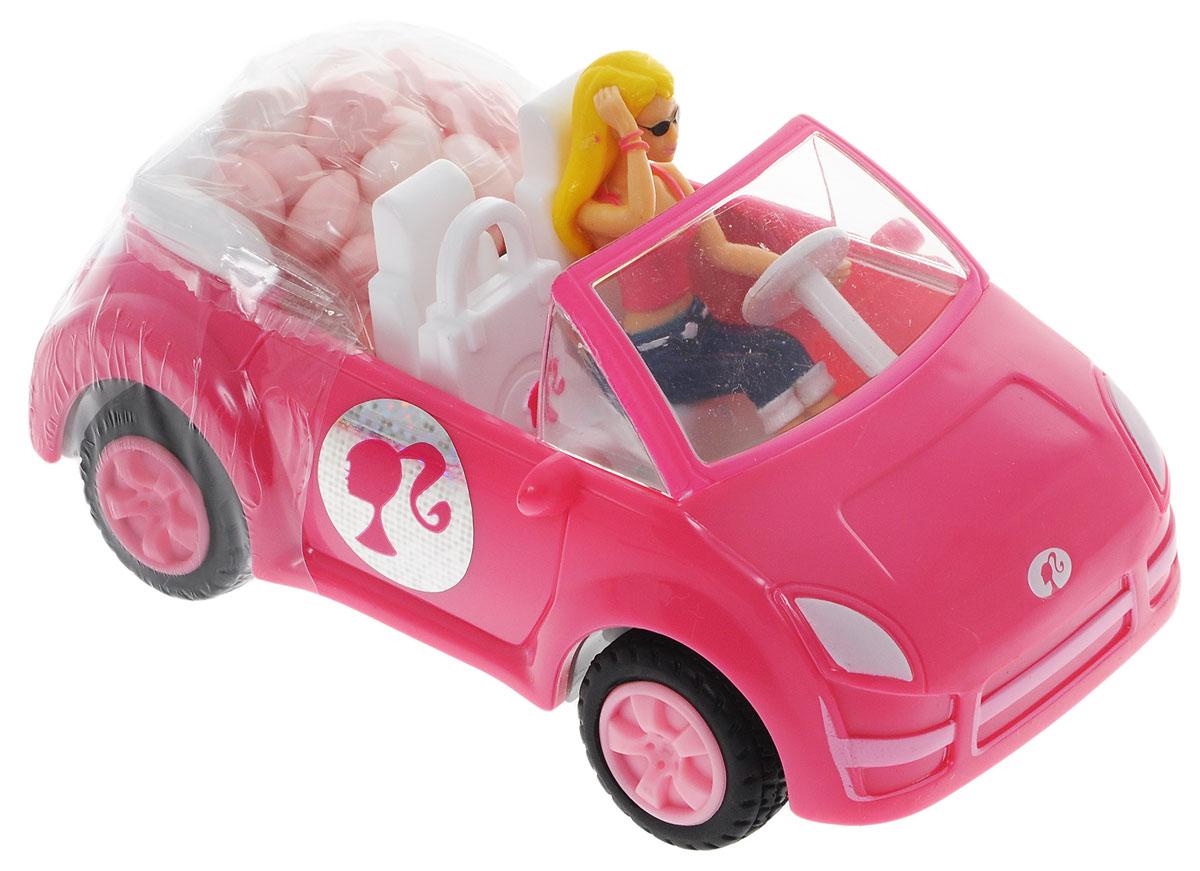Barbie конфеты драже с розовым кабриолетом, 12 г0120710Игрушка для девочек, выполненная в виде Barbie в кабриолете. К кабриолету прикреплен мини-контейнер с 12 граммами драже.