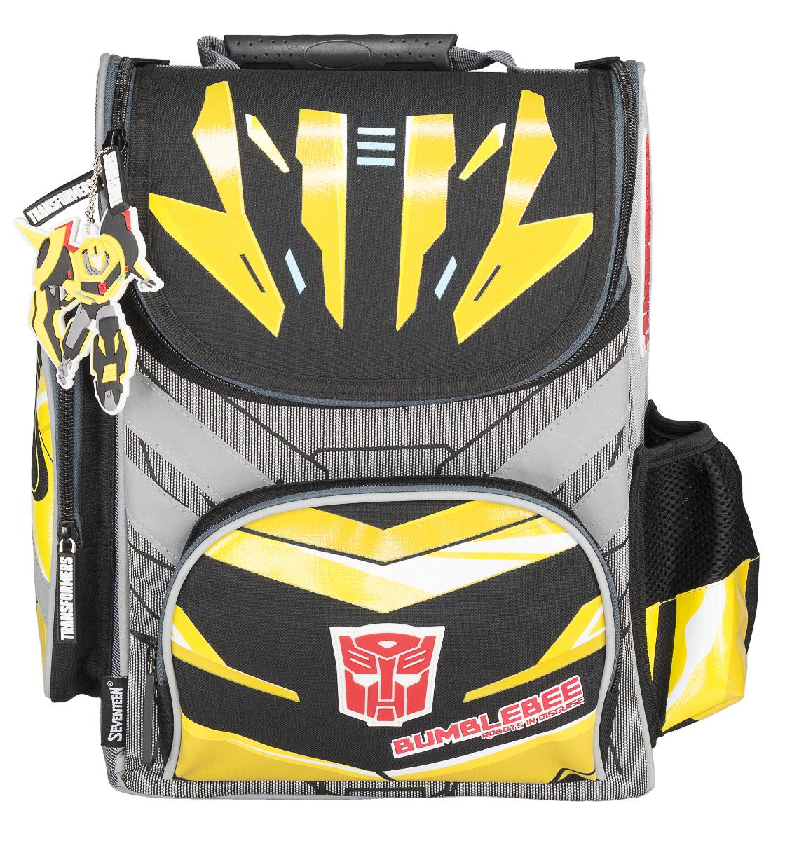 Transformers Prime Ранец профилактический с эргономической спинкой Transformers Prime72523WDРанец профилактический с эргономической спинкой. Спинка выполнена с использованием толстого поролона, усилена пластиком, жесткие боковые стороны. Внутри ранца имеется вместительное отделение с двумя разделителями, снаружи предусмотрены три кармана для аксессуаров, Размер 35 х 26,5 х 13 см, Transformers Prime