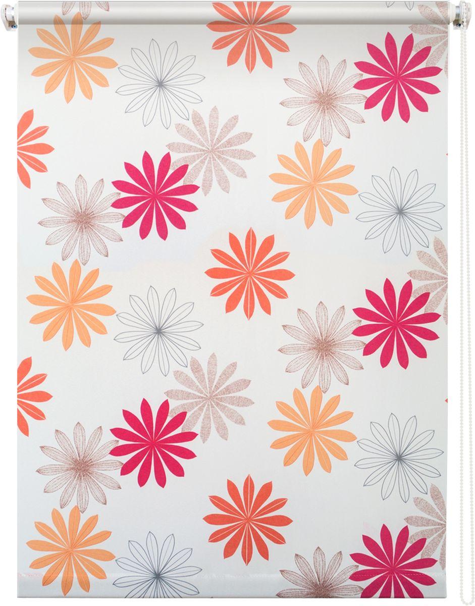 Штора рулонная Уют Космея, цвет: белый, 90 х 175 см531-401Штора рулонная Уют Космея выполнена из прочного полиэстера с обработкой специальным составом, отталкивающим пыль. Ткань не выцветает, обладает отличной цветоустойчивостью и хорошей светонепроницаемостью. Изделие оформлено красочным цветочным узором, отлично подойдет для спальни, кухни, гостиной, а также детской. Штора закрывает не весь оконный проем, а непосредственно само стекло и может фиксироваться в любом положении. Она быстро убирается и надежно защищает от посторонних взглядов. Компактность помогает сэкономить пространство. Универсальная конструкция позволяет крепить штору на раму без сверления, также можно монтировать на стену, потолок, створки, в проем, ниши, на деревянные или пластиковые рамы. В комплект входят регулируемые установочные кронштейны и набор для боковой фиксации шторы. Возможна установка с управлением цепочкой как справа, так и слева. Изделие при желании можно самостоятельно уменьшить. Такая штора станет прекрасным элементом декора окна и гармонично впишется в интерьер любого помещения.