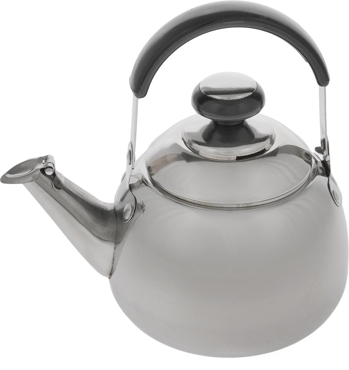 Чайник заварочный Mayer & Boch, со свистком и фильтром, 1 л. 1107VT-1520(SR)Заварочный чайник Mayer & Boch выполнен из высококачественной нержавеющей стали, что обеспечивает долговечность использования. Внешнее зеркальное покрытие придает приятный внешний вид. Бакелитовая ручка делает использование чайника очень удобным и безопасным. Крышка оснащена свистком, что позволит вамконтролировать процесс подогреваили кипячения воды. Чайник оснащен фильтром, с помощью которого можно заваривать ваш любимый чай.Подходит для газовых, электрических и стеклокерамических плит. Можно мыть в посудомоечной машине. Диаметр чайника (по верхнему краю): 8 см. Высота чайника (без учета крышки и ручки): 9 см. Высота чайника (с учетом крышки и ручки): 18,5 см. Размер фильтра: 7,5 х 7,5 х 5,5 см.