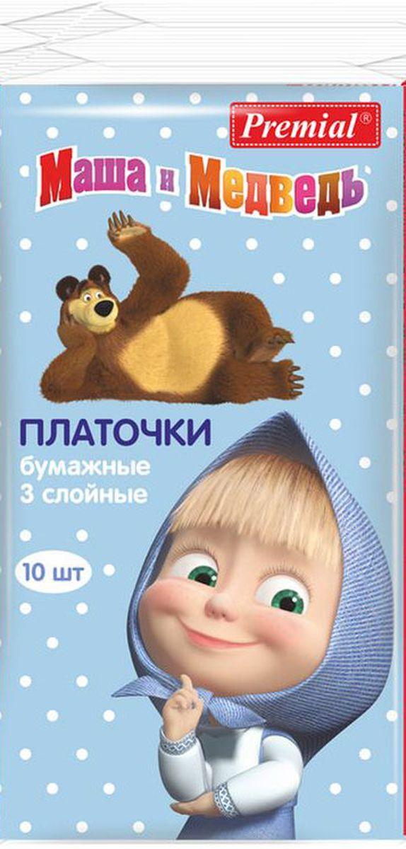 Маша и Медведь Бумажные платочки 6 x 10 шт.222653Бумажные носовые платочки. Мягкие и нежные, хорошо впитывают, удобны в применении и незаменимы для ежедневного ухода за ребенком.