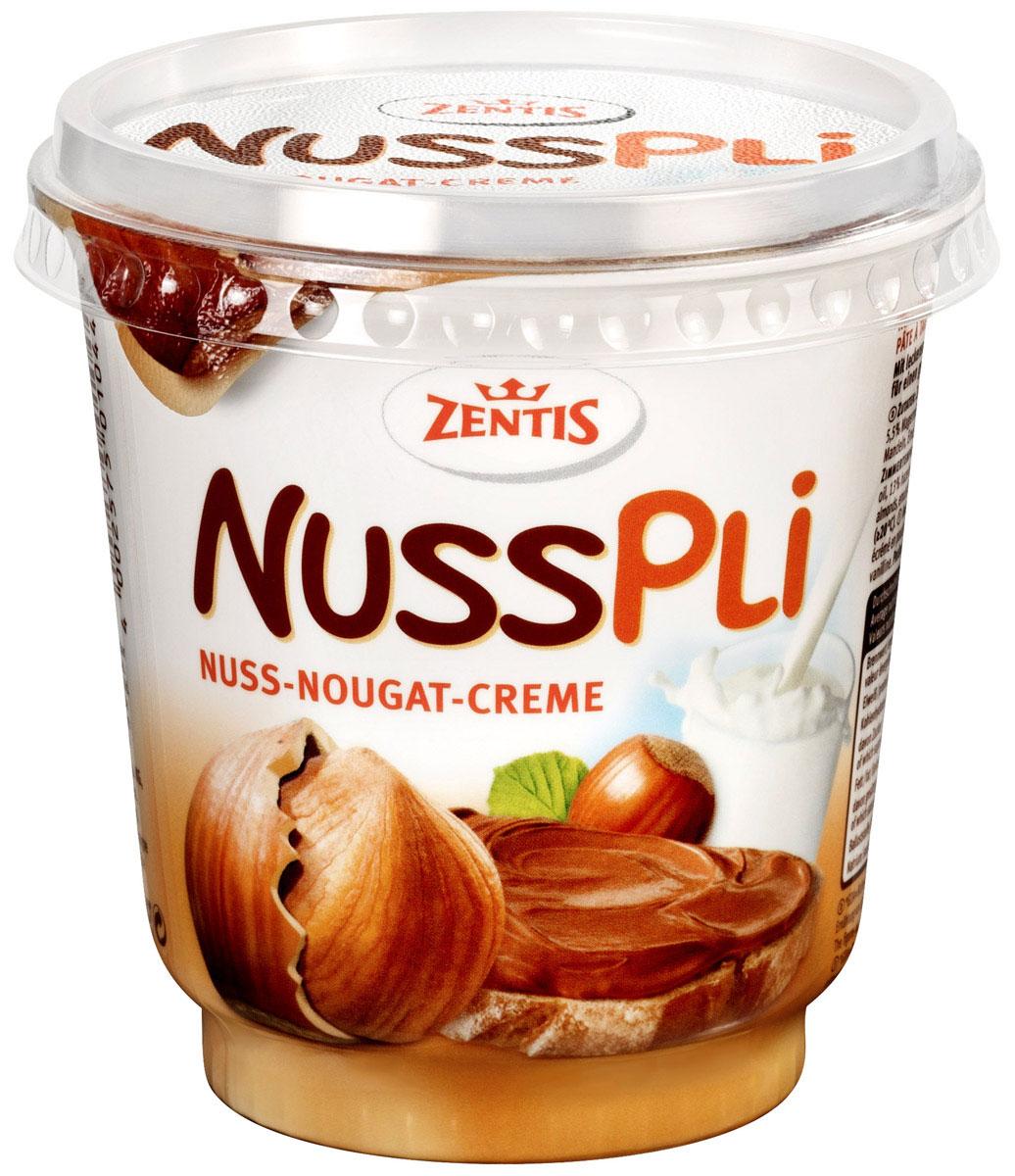 Zentis Nusspli ореховая паста с добавлением какао, 400 г0120710Zentis Nusspli - вкуснейшая шоколадная паста с лесным орехом и добавлением какао. Намажьте ее на свежий хлеб или при приготовлении сдобы и выпечки. Паста придаст любому блюду яркий ореховый вкус.