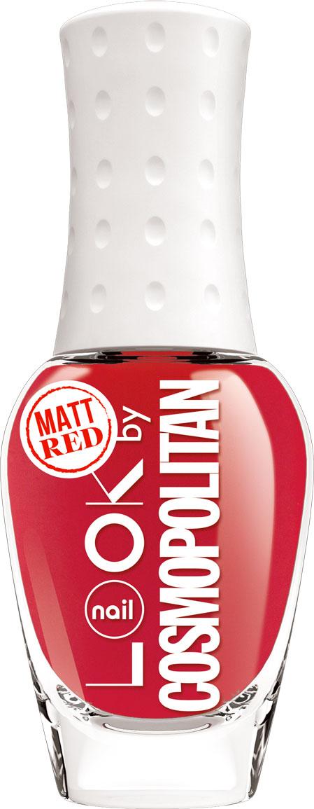 nailLOOK Лак для ногтей серии Trends look by Cosmopolitan, Mat Red, 8,5 мл28032022Эксклюзивная коллекция из 7 потрясающих оттенков разработанных совместно с популярным глянцевым журналом. Матовый красный оттенок новый тренд!На ногтях цвет выглядит более мягким и приглушенным,чем классический глянцевый,но при этом отлично сочетается с любым оттенком кожи. В отличие от обычного глянцевого покрытия он в 2 раза быстрее сохнет и проще наносится. Матовый красный оттенок.