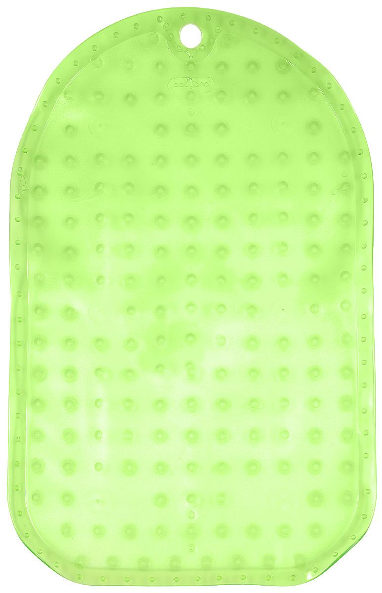 BabyOno Коврик противоскользящий для ванной цвет зеленый 55 х 35 см382-01Коврик противоскользящий для ванной BabyOno предназначен для детских ванночек, ванн и душевых кабин. Имеет присоски, исключающие перемещение коврика по поверхности.Для правильного закрепления коврика следует сначала наполнить ванну водой, а затем вложить коврик и равномерно прижать с каждой стороны.Во время купания ребенок должен находиться под постоянным присмотром взрослого. Перед первым и после каждого купания коврик следует промыть в теплой воде с добавлением детского мыла, ополоснуть и высушить. Изделие не является игрушкой. Хранить в месте, недоступном для детей. Не содержит фталатов.Товар сертифицирован.