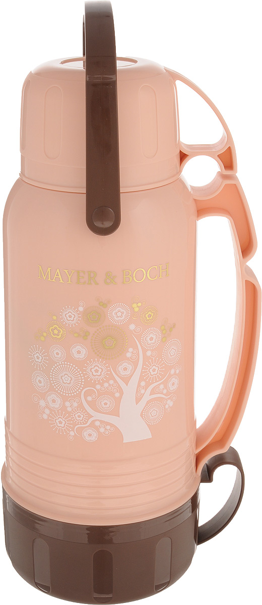 Термос Mayer & Boch, с чашами, цвет: светло-розовый, 1,8 л. 23703 кружка термос mayer