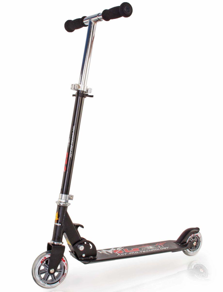 Самокат Larsen, цвет: черный. BZ1105-PWRA523700Самокат Larsen BZ1105 – отличный вариант для взрослых и детей. Регулируемая высота рулевой стойки: 64-83,5 см. Этот стильный складной самокат будет незаменим во время летних прогулок. На нем вы сможете кататься с особым комфортом – его колеса выполнены из качественного полиуретана. Рама Larsen сделана из нержавеющей стали, и вы можете быть уверенными, что самокат прослужит долгое время. Подшипник АВЕС-5 выполнен из углеродистой стали с повышенной износостойкостью. Самокат способен выдерживать вес до 100 кг.