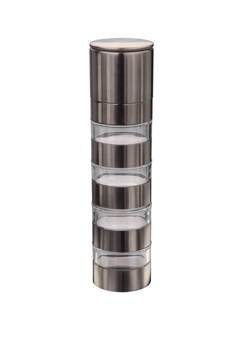Устройство для измельчения 4 в 1 AxonFS-80418Измельчитель для специй сделан из ударопрочного акрила и нержавеющей стали. Инновационный керамический механизм позволяет попеременно перемалывать четыре специи. Помолочный механизм спрятан под металлической крышкой. Имеет регулятор размера помола.