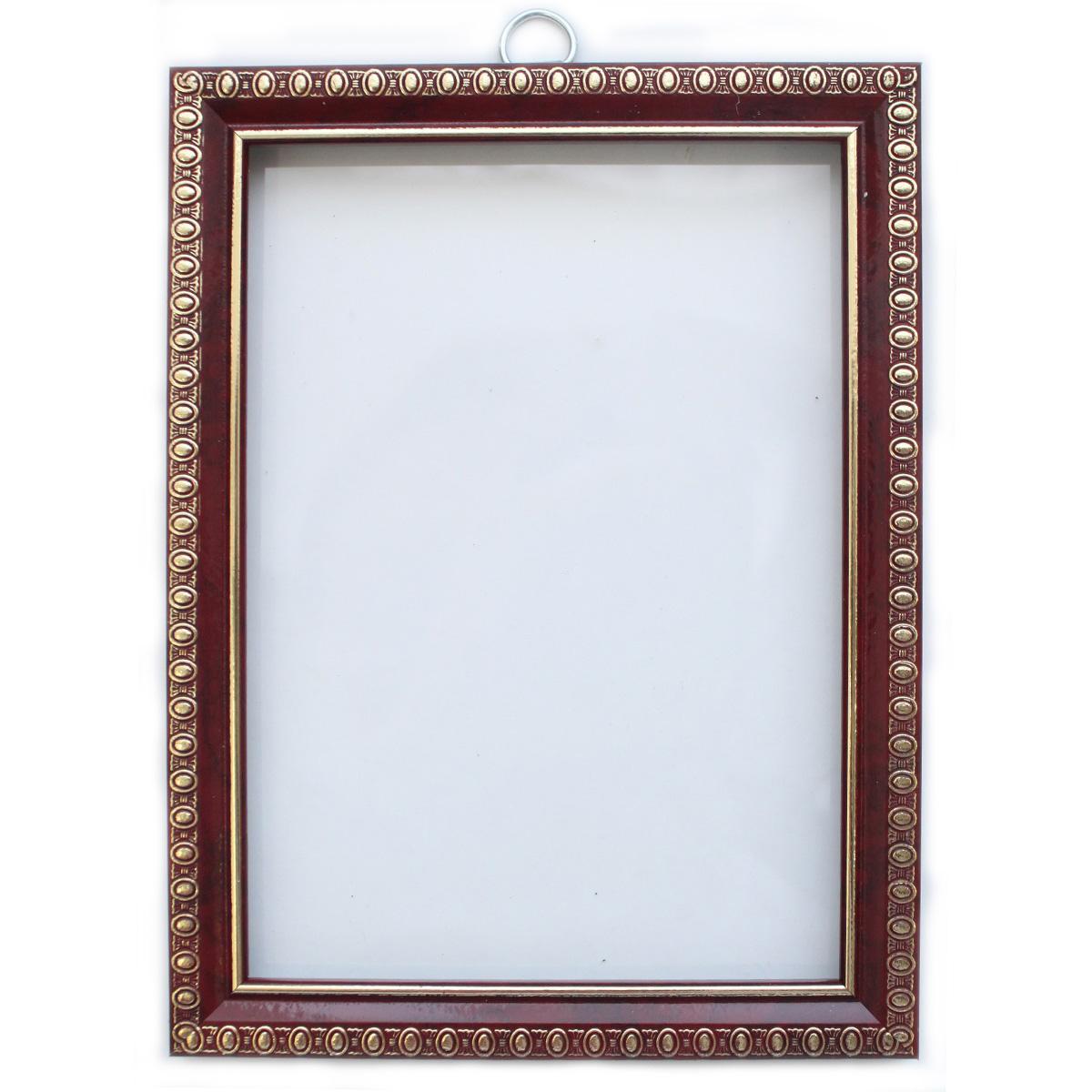 Рама без стекла с прозрачным дном, цвет: вишня, 13х18 см. RAM111007300083Рама без стекла предназначена для оформления картин, фотографий. Обрамленные такой рамкой работы, сразу же преображаются и приобретают завершенный вид.