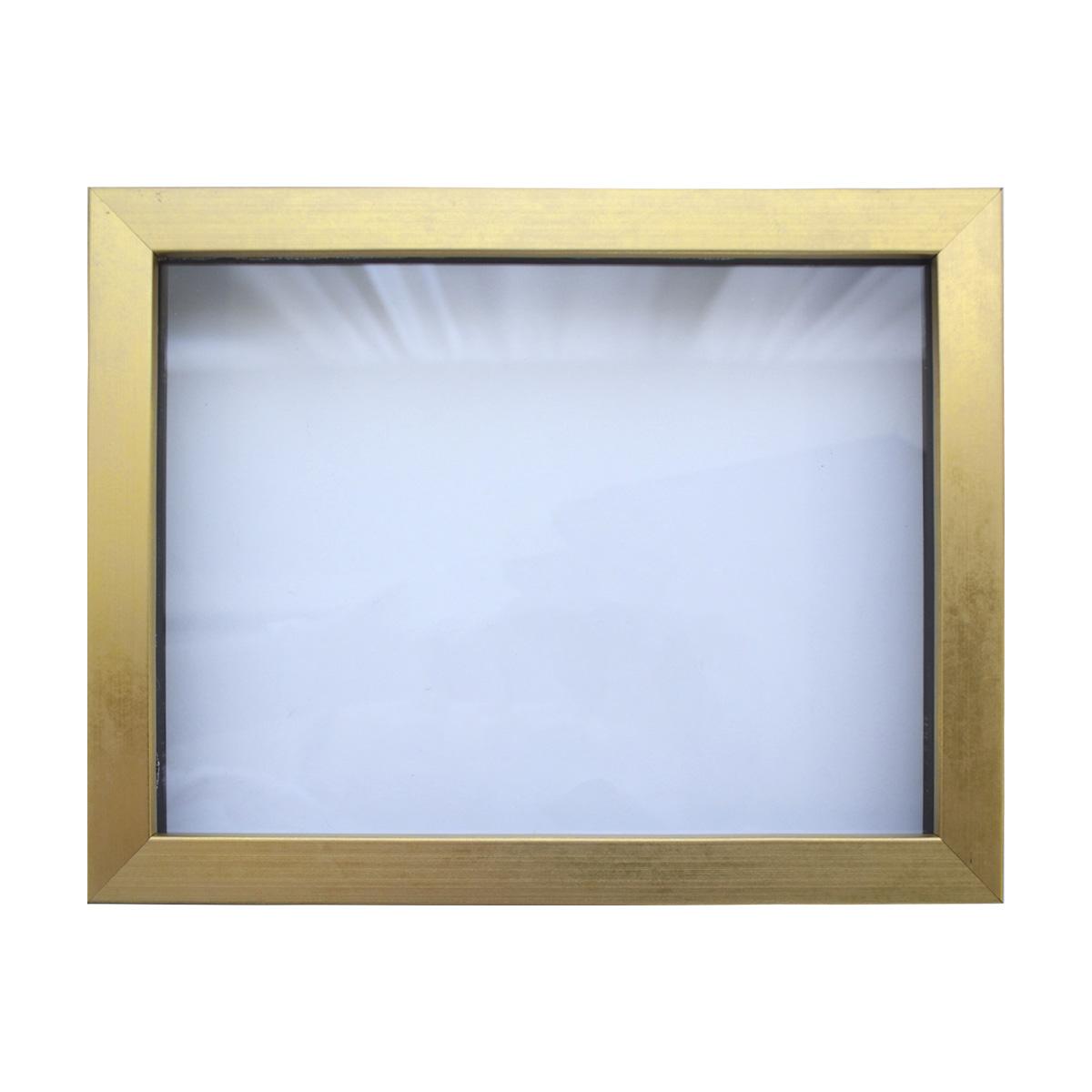 Рама (аквариум) глубокий багет со стеклом с прозрачным дном, цвет: матовое золото, 18х24 см. RAM11101843407Рамы предназначены для оформления картин, фотографий. Обрамленные такой рамкой работы, сразу же преображаются и приобретают завершенный вид.