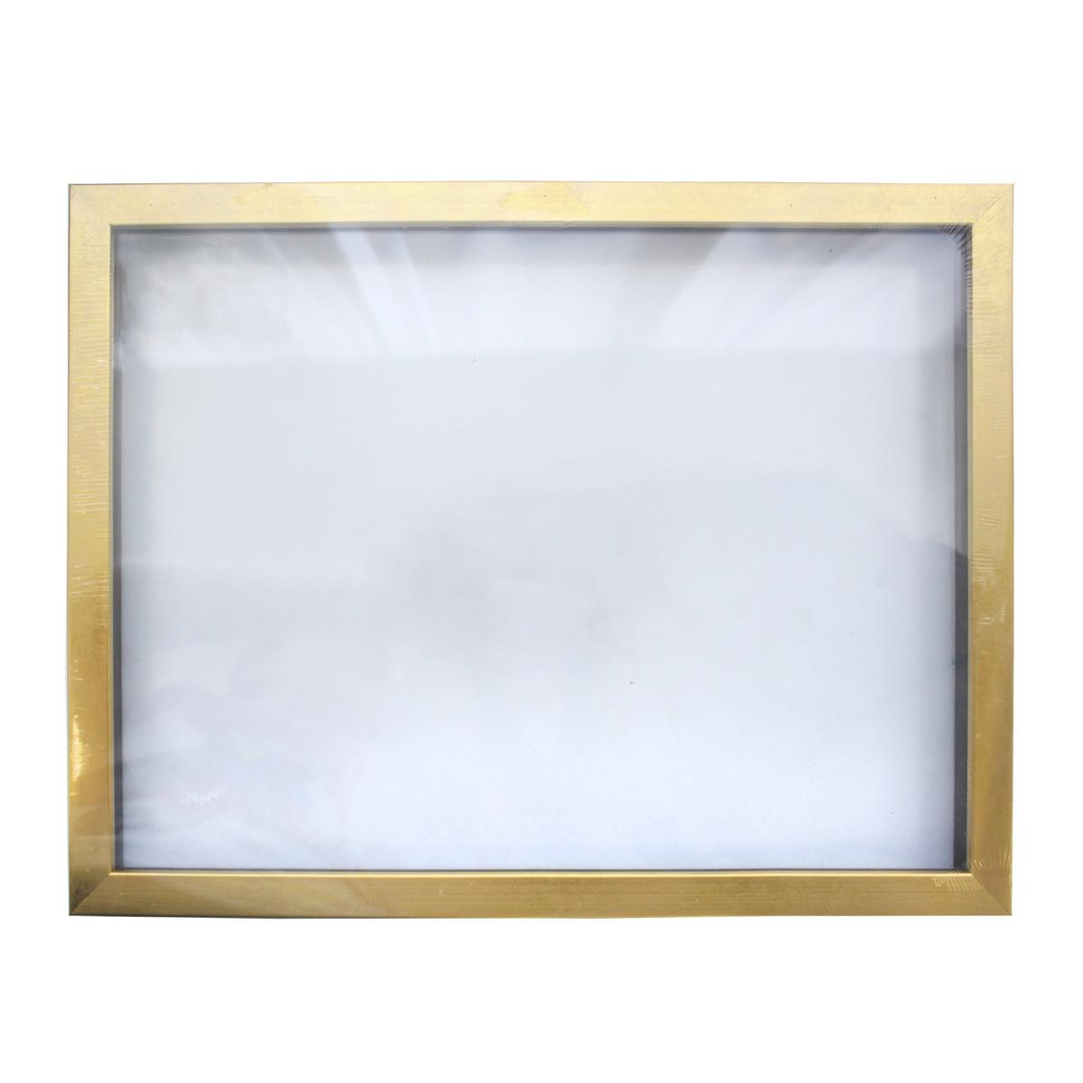 Рама (аквариум) глубокий багет со стеклом с прозрачным дном, цвет: матовое золото, 30х40 см. RAM1110201023046Рамы предназначены для оформления картин, фотографий. Обрамленные такой рамкой работы, сразу же преображаются и приобретают завершенный вид.
