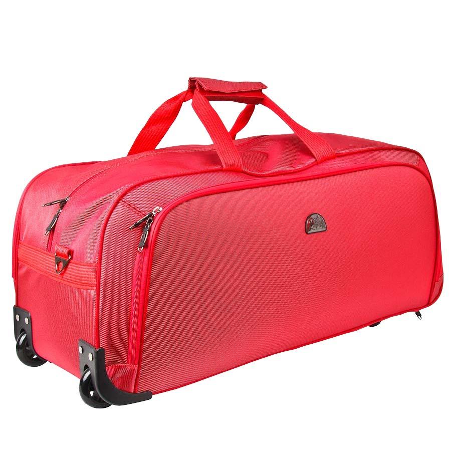 Сумка дорожная на колесах Polar, 72 л, цвет: красный. 7022.5D-247/17Дорожная сумка фирмы Polar. Материал - кордура. Большое отделение и карман для мелких вещей. В комплект входит съемный плечевой ремень. Очень удобный и практичный вариант для всего самого необходимого. Пластиковые колеса (2 шт.), выдвижная ручка. Внутренняя тележка.