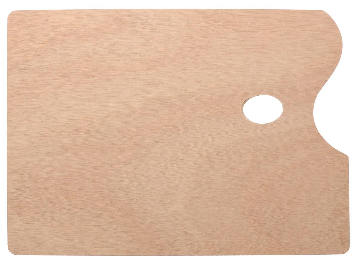 """Прямоугольная деревянная палитра """"Малевичъ"""", покрытая натуральным шпоном, прекрасно подойдет для смешивания масляных красок. Гладкая поверхность палитры поддается чистке без усилий, что значительно сокращает время работы художника. С такой палитры легко удалять даже засохшую краску. Такая палитра станет незаменимым инструментом для художника."""