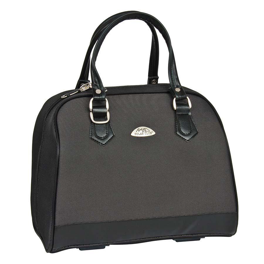 Бьюти-кейс Polar, цвет: черный, 21,5 лF5WL02Вместительный и удобный бьюти-кейс Polar выполнен из высокопрочного материала кордура. Основное отделение содержит открытый карман внутри. Также предусмотрен карман с внешней стороны для фиксирования бьюти-кейса на ручке чемодана. Ручки выполнены из высококачественного кожзаменителя. В комплекте есть съемный, регулируемый плечевой ремень.