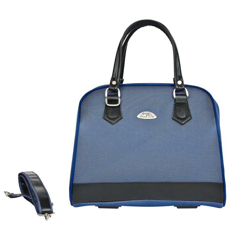 Бьюти-кейс Polar, цвет: синий, 21,5 лГризлиВместительный и удобный бьюти-кейс Polar выполнен из высокопрочного материала кордура. Основное отделение содержит открытый карман внутри. Также предусмотрен карман с внешней стороны для фиксирования бьюти-кейса на ручке чемодана. Ручки выполнены из высококачественного кожзаменителя. В комплекте есть съемный, регулируемый плечевой ремень.