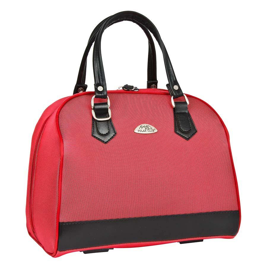 Бьюти-кейс Polar, цвет: красный, 21,5 лГризлиВместительный и удобный бьюти–кейс Polar выполнен из высокопрочного материала кордура. Основное отделение содержит открытый карман внутри. Также предусмотрен карман с внешней стороны для фиксирования бьюти–кейса на ручке чемодана. Ручки выполнены из высококачественного кожзаменителя. В комплекте есть съемный, регулируемый плечевой ремень.