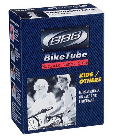 Велокамера BBB 24 in 1,9/2,125 AV. BTI-41BTI-68Размер колеса: 24 Велониппель 33 мм Камеры BBB изготовлены из долговечного резинового компаунда. Никаких швов, которые могут пропускать воздух. Толщина стенки: 0.87 мм. Достаточно большая для защиты от проколов и достаточно небольшая для снижения веса.