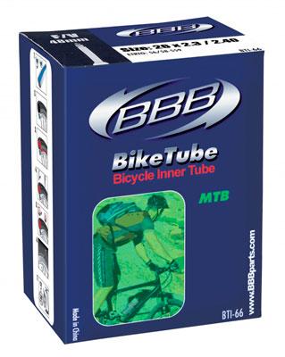 Камера велосипедная BBB, 2,3/2,4 AV, 26. BTI-66BTI-66Камера BBB изготовлена из долговечного резинового компаунда. Никаких швов, которые могут пропускать воздух. Достаточно большая для защиты от проколов и достаточно небольшая для снижения веса. Велосипедные камеры - обязательный атрибут каждого велосипедиста! Никогда не выезжайте из дома на велосипеде, не взяв с собой запасную велосипедную шину!Диаметр камеры: 26.Автомобильный ниппель (Shrader): 33 мм.Толщина стенки: 0,87 мм.