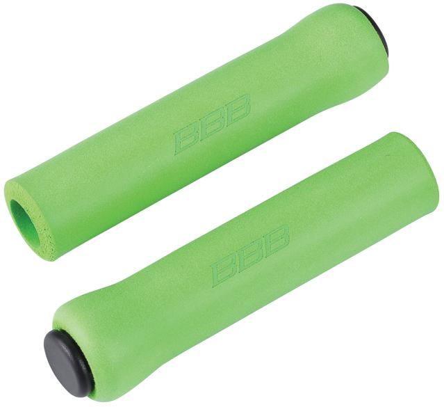 Грипсы BBB Sticky, цвет: зеленый, 13 см, 2 шт. BHG-34BHG-34Легкие и комфортные грипсы BBB Sticky имеют вибро- и ударопоглощающими свойства. Они предназначены для более удобного управления велосипедом. Силиконовое покрытие обеспечивает прекрасное сцепление с перчатками.Заглушки руля в комплекте.Длина грипс: 13 см.Вес: 49 г.