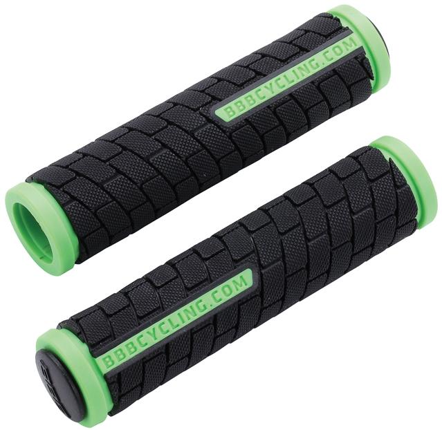 Грипсы BBB DualGrip, цвет: черный, светло-зеленый, 12,5 см, 2 шт. BHG-06ГризлиГрипсы BBB DualGrip выполнены из мягкой двухкомпонентной резины. Рельефная текстура обеспечивает отличное сцепление. Грипсы предназначены для более удобного управления велосипедом.Две заглушки для руля в комплекте.Длина грипс: 12,5 см.