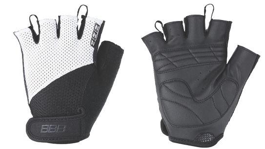 Перчатки велосипедные BBB Chase, цвет: черный, белый. BBW-49. Размер L1592Комфортные летние перчатки.Максимальная вентиляция за счет тыльной стороны перчаток из сетчатого материала.Ладонь из материала Serino с гелевыми вставками для большего комфорта.Застежки велькро (Система WristLock).Вставка для удаления влаги/пота.