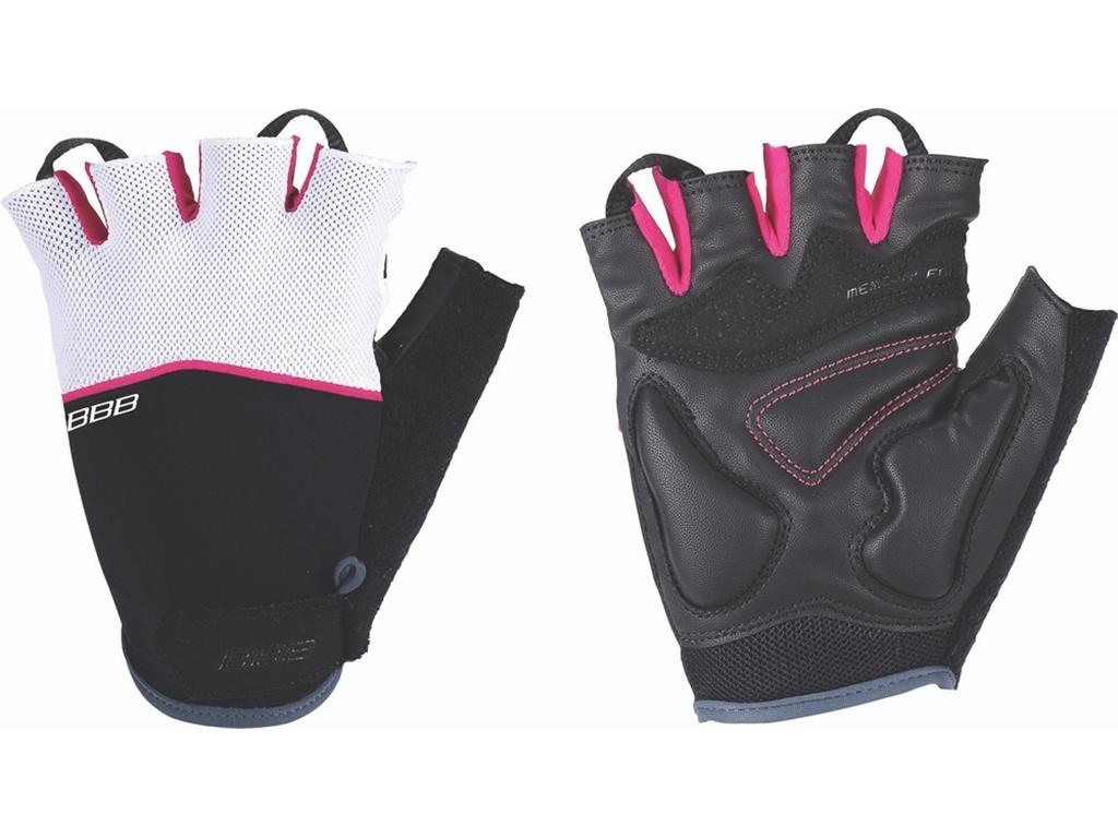 Перчатки велосипедные BBB Omnium, цвет: черный, пурпурно-белый. BBW-47. Размер XLBBW-49Скроены с учетом особенностей строения женских рук.Стильные перчатки с эластичной тыльной стороной из лайкры и сетчатого материала.Комфортная ладонь из материала clarino и вставкой из материала с эффектом памяти.Вставка для удаления влаги/пота.Застежки велькро (Система WristLock).