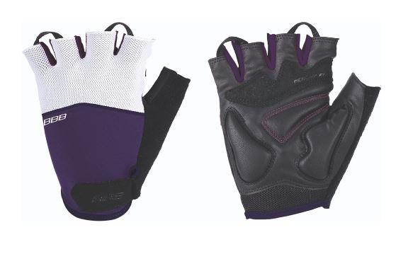 Перчатки велосипедные BBB Omnium, цвет: пурпурный, белый, черный. BBW-47. Размер MХ66457-ХЛСтильные перчатки BBB Omnium с эластичной тыльной стороной из лайкры и сетчатого материала скроены с учетом особенностей строения женских рук. Комфортная ладонь выполнена из материала clarino и вставкой из материала с эффектом памяти. Перчатки оснащены вставкой для удаления влаги/пота. Застежки велкро (Система WristLock) надежно фиксируют перчатки на руке.
