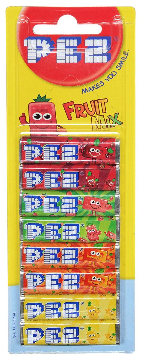 PEZ Fruit Mix конфеты, 8 шт0120710PEZ Fruit Mix - конфетки-холодки с различными вкусами: вишня, клубника, апельсин, лимон. Они производятся с 1927 года. Продаются в наборе из 8 штук.