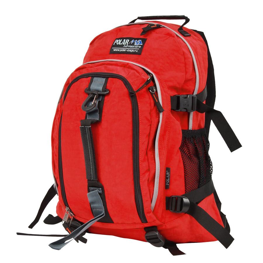 Рюкзак городской Polar, 21 л, цвет: красный. П955-01П1572-13Городской рюкзак с модным дизайном. Полностью вентилируемая и удобная мягкая спинка, мягкие плечевые лямки создают дополнительный комфорт при ношении. Центральный отсек для персональных вещей и документов A4 на двухсторонних молниях для удобства. Маленький карман для mp3, CD плеера. Два боковых кармана под бутылки с водой на резинке. Регулирующая грудная стяжка с удобным фиксатором. Регулирующий поясной ремень, удерживает плотно рюкзак на спине, что очень удобно при езде на велосипеде или продолжительных походах. Система циркуляции воздуха Air. Материал Polyester.