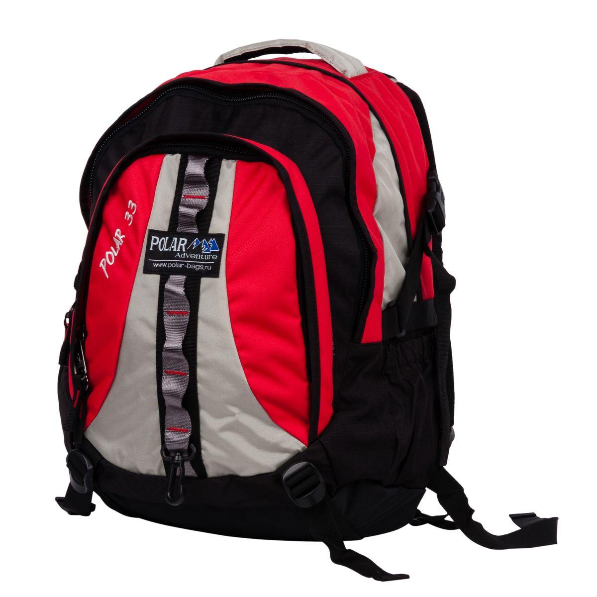 Рюкзак городской Polar, цвет: красный, 27 л. П1002-01Z90 blackНебольшой, вместительный рюкзак Polar с полностью вентилируемой спинкой с системой Aircomfort имеет мягкие плечевые лямки, которые создают дополнительный комфорт при ношении. Центральный отсек для персональных вещей и внутренним карманом для папки А4. Маленький карман для mp3, CD плеера. Выход под наушники. Большой передний карман с органайзером. Так же есть грудные стяжки, фиксирующие его удобное положение. Боковой карман из трикотажной сетки для бутылки с водой. Дождевик специальной формы на рюкзак, защищает его от намокания в дождливую погоду.