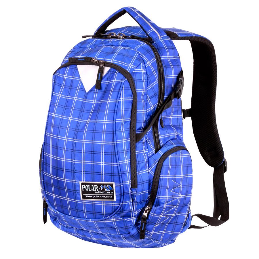 Рюкзак городской Polar, 27,5 л, цвет: синий. П1572-10Z90 blackСтильный городской рюкзак Polar. Удобная мягкая спинка, мягкие плечевые лямки создают дополнительный комфорт при ношении. Центральный отсек для персональных вещей с карманом под папку А4. Большой передний карман с органайзером. Грудные стяжки, фиксирующие его удобное положение и специальные боковые стяжки для регулирования объема. Также по бокам расположены карманы на молнии.