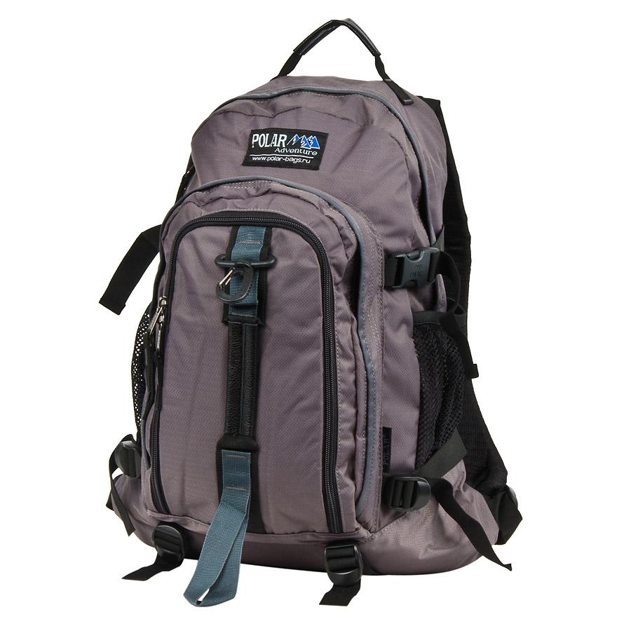 Рюкзак городской Polar, цвет: серый, 27 л. П3955-06Z90 blackГородской рюкзак Polar с модным дизайном. - Полностью вентилируемая и удобная мягкая спинка, мягкие плечевые лямки создают дополнительный комфорт при ношении. - Центральный отсек для персональных вещей и документов A4 на двухсторонних молниях для удобства. - Маленький карман для mp3, CD плеера. - Два боковых кармана под бутылки с водой на резинке.- Регулирующая грудная стяжка с удобным фиксатором.- Регулирующий поясной ремень, удерживает плотно рюкзак на спине, что очень удобно при езде на велосипеде или продолжительных походах.- Система циркуляции воздуха Air.- Материал Polyester PU 600D.