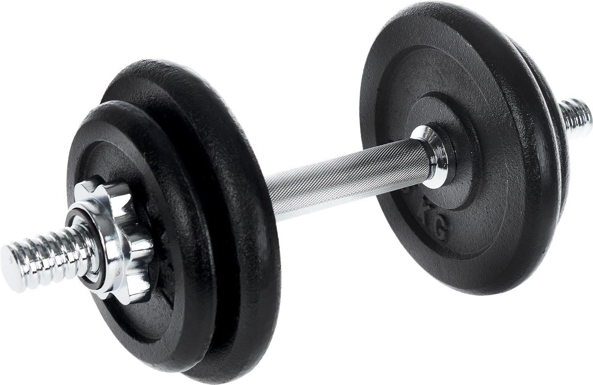 Гантель сборная Andy, с 4 сменными блинами, 10 кгSF 0085Сборная гантель Andy состоит из 4 дисков и хромированного грифа. Гантель помогает укрепить мышцы рук, грудной клетки, верхней части спины и плеч. Благодаря небольшому размеру гантель удобно хранить, она не займет много места в квартире.Внутренний диаметр дисков: 25 мм. В комплект входят 4 диска: 2 х 1,5 кг, 2 х 2,5 кг. Длина грифа: 35 см. В комплекте замок-гайка: 2 шт. Общий вес гантели: 10 кг.