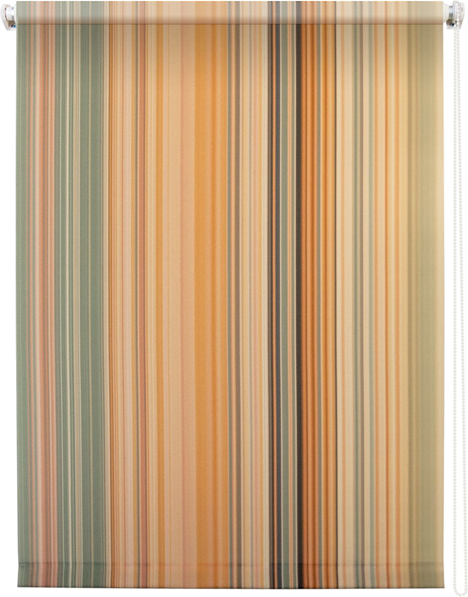 Штора рулонная Уют Спектр, 100 х 175 см1004900000360Штора рулонная Уют Спектр выполнена из прочного полиэстера с обработкой специальным составом, отталкивающим пыль. Ткань не выцветает, обладает отличной цветоустойчивостью и хорошей светонепроницаемостью. Изделие оформлено принтом в мелкую вертикальную полоску, отлично подойдет для спальни, гостиной, кухни или кабинета. Штора закрывает не весь оконный проем, а непосредственно само стекло и может фиксироваться в любом положении. Она быстро убирается и надежно защищает от посторонних взглядов. Компактность помогает сэкономить пространство. Универсальная конструкция позволяет крепить штору на раму без сверления, также можно монтировать на стену, потолок, створки, в проем, ниши, на деревянные или пластиковые рамы. В комплект входят регулируемые установочные кронштейны и набор для боковой фиксации шторы. Возможна установка с управлением цепочкой как справа, так и слева. Изделие при желании можно самостоятельно уменьшить. Такая штора станет прекрасным элементом декора окна и гармонично впишется в интерьер любого помещения.